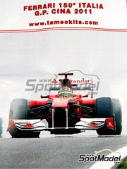 Tameo Kits: Model car kit 1/43 scale - Ferrari 150 Italia Banco Santander #5, 6 - Fernando Alonso (ES), Felipe Massa (BR) - Chinese Grand Prix 2011 - photo-etched parts, turned metal parts, water slide decals, white metal parts and assembly instructions