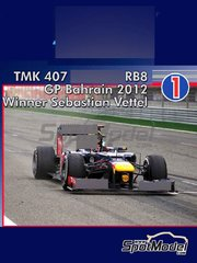 Tameo Kits: Model car kit 1/43 scale - RB Racing Renault RB8 - Sebastian Vettel (DE) - Bahrain Grand Prix 2012 - photo-etched parts, turned metal parts, water slide decals, white metal parts and assembly instructions