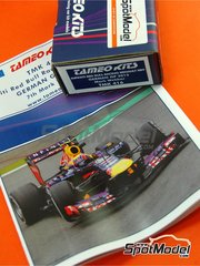 Tameo Kits: Model car kit 1/43 scale - RB Racing Renault RB9 Infiniti #2 - Mark Webber (AU) - German Grand Prix 2013 - photo-etched parts, turned metal parts, water slide decals, white metal parts and assembly instructions