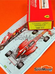 Tameo Kits: Model car kit 1/43 scale - Ferrari F138 F2013 Banco Santander #3, 4 - Fernando Alonso (ES), Felipe Massa (BR) - Spanish Grand Prix 2013 - photo-etched parts, turned metal parts, water slide decals, white metal parts and assembly instructions