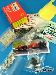 Tameo Kits: Model car kit 1/43 scale - Ferrari F310 Marlboro #1, 2 - Michael Schumacher (DE), Eddie Irvine (GB) - Spanish Grand Prix 1996 - photo-etched parts, turned metal parts, water slide decals, white metal parts and assembly instructions image