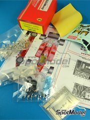Tameo Kits: Model car kit 1/43 scale - Ferrari 126 C4-M2 Fiat Agip #27, 28 - Michele Alboreto (IT), Rene Arnoux (FR) - European Grand Prix 1984 - photo-etched parts, turned metal parts, water slide decals, white metal parts and assembly instructions image