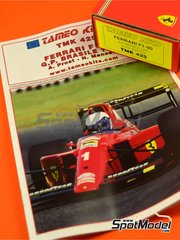Tameo Kits: Model car kit 1/43 scale - Ferrari F1-90 Marlboro #1, 2 - Alain Prost (FR), Nigel Ernest James Mansell (GB) - Brazilian Grand Prix 1990 - photo-etched parts, turned metal parts, water slide decals, white metal parts and assembly instructions image