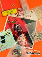 Tameo Kits: Model car kit 1/43 scale - Ferrari 156/85 Agip Marlboro - Michele Alboreto (IT), Stefan Johansson (SE) - Canadian Grand Prix 1985 - photo-etched parts, turned metal parts, water slide decals, white metal parts and assembly instructions image