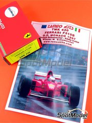 Tameo Kits: Model car kit 1/43 scale - Ferrari F310B Marlboro #5, 6 - Michael Schumacher (DE), Eddie Irvine (GB) - Monaco Formula 1 Grand Prix 1997 - photo-etched parts, turned metal parts, water slide decals, white metal parts and assembly instructions