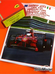 Tameo Kits: Model car kit 1/43 scale - Ferrari F300 Marlboro #3, 4 - Michael Schumacher (DE), Eddie Irvine (GB) - Italian Grand Prix 1998 - photo-etched parts, turned metal parts, water slide decals, white metal parts and assembly instructions