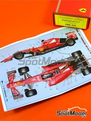 Tameo Kits: Model car kit 1/43 scale - Ferrari SF15-T Banco Santander #5, 6 - Sebastian Vettel (DE), Kimi Räikkönen (FI) - Belgian Grand Prix 2015 - photo-etched parts, turned metal parts, water slide decals, white metal parts and assembly instructions