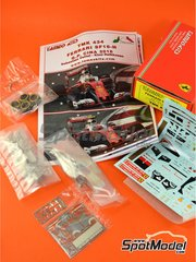 Tameo Kits: Model car kit 1/43 scale - Ferrari SF16-H Banco Santander #5, 7 - Sebastian Vettel (DE), Kimi Räikkönen (FI) - Chinese Grand Prix 2016 - photo-etched parts, turned metal parts, water slide decals, white metal parts and assembly instructions