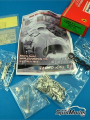 Tameo Kits: Model car kit 1/43 scale - Ferrari 500 F2 #12 - Alberto Ascari (IT) - Italian Formula 1 Grand Prix 1952 - photo-etched parts, turned metal parts, water slide decals, white metal parts and assembly instructions image