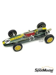 Tameo Kits: Model car kit 1/43 scale - Lotus Climax 25 - Jim Clark (GB) - Italian Formula 1 Grand Prix 1963 - photo-etched parts, turned metal parts, water slide decals, white metal parts and assembly instructions