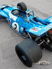Tameo Kits: Model car kit 1/43 scale - Matra Ford MS80 ELF #2, 7 - Sir John Young 'Jackie' Stewart (GB), Jean-Pierre Beltoise (FR) - French Grand Prix 1969 - photo-etched parts, turned metal parts, water slide decals, white metal parts and assembly instructions