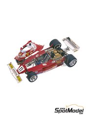 Tameo Kits: Model car kit 1/43 scale - Ferrari 312T2 Fiat #11, 12 - Niki Lauda (AT), Carlos Reutemann (AR) - German Grand Prix 1977 - photo-etched parts, turned metal parts, water slide decals, white metal parts and assembly instructions