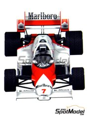 Tameo Kits: Model car kit 1/43 scale - McLaren TAG Porsche MP4/2 Marlboro #7, 8 - Niki Lauda (AT) - British Formula 1 Grand Prix 1984 - photo-etched parts, turned metal parts, water slide decals, white metal parts and assembly instructions