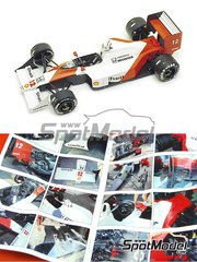 Tameo Kits: Model car kit 1/43 scale - McLaren Honda MP4/4 Marlboro #11, 12 - Ayrton Senna (BR), Alain Prost (FR) - Japanese Formula 1 Grand Prix 1988 - photo-etched parts, turned metal parts, water slide decals, white metal parts and assembly instructions