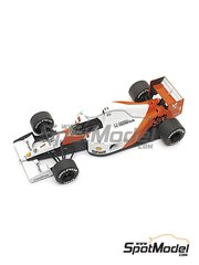 Tameo Kits: Model car kit 1/43 scale - McLaren Honda MP4/6 Marlboro #1, 2 - Ayrton Senna (BR), Gerhard Berger (AT) - Monaco Grand Prix 1991 - photo-etched parts, turned metal parts, water slide decals, white metal parts and assembly instructions