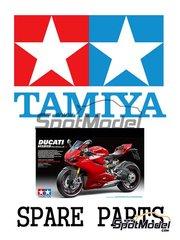 Tamiya: Pieza de reemplazo - Ducati 1199 Panigale S: Instrucciones - manual de instrucciones e instrucciones de pintado - para kit de Tamiya TAM14129