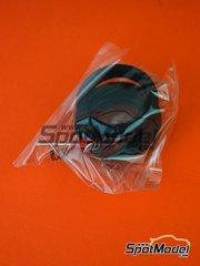 Tamiya: Pieza de reemplazo escala 1/12 - Honda RC213V: Bolsa de neumáticos - piezas de metal y piezas de goma - para la referencia de Tamiya TAM14130