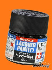 Tamiya: Lacquer paint - Black LP-1 - 1 x 10ml