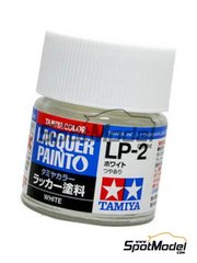 Tamiya: Lacquer paint - White LP-2 - 1 x 10ml