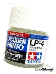 Tamiya: Lacquer paint - Flat white LP-4 - 1 x 10ml