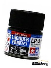 Tamiya: Lacquer paint - Semi gloss black LP-5 - 1 x 10ml image