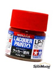 Tamiya: Lacquer paint - Pure red LP-7 - 1 x 10ml