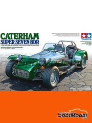 Tamiya: Model car kit 1/12 scale - Caterham Super Seven BDR - metal parts, plastic parts, rubber parts, seatbelt fabric, water slide decals, assembly instructions and painting instructions image