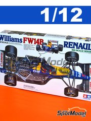 Tamiya: Model car kit 1/12 scale - Williams Renault FW14B Canon #5, 6 - Nigel Ernest James Mansell (GB), Riccardo Patrese (IT) - World Championship 1992 - plastic parts, rubber parts, water slide decals and assembly instructions image