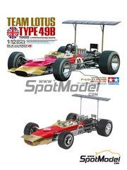 Tamiya: Model car kit 1/12 scale - Lotus Ford Type 49B Gold Leaf #1, 10 - Graham Hill (GB) - FIA Formula 1 World Championship 1968 image