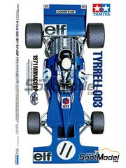 Tamiya: Model car kit 1/12 scale - Tyrrell Ford 003 ELF #11 - Sir John Young 'Jackie' Stewart (GB) - Monaco Grand Prix 1971 - plastic model kit image
