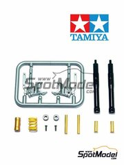 Tamiya: Front fork set 1/12 scale - Ducati Desmosedici GP4 2004 - plastic parts, turned metal parts, other materials and assembly instructions - for Tamiya references TAM14103 and 14103