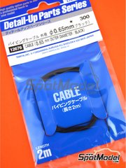 Tamiya: Cable de bujía - Cable de color negro de 0.65mm - otros materiales
