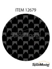 Tamiya: Decals - Plain weave fine carbon pattern