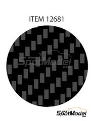 Tamiya: Decals - Twill weave fine carbon pattern