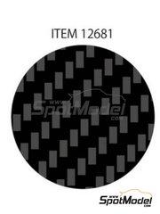 Tamiya: Calcas de agua - Fibra de carbono con trama diagonal fina