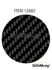 Tamiya: Decals - Twill weave extra fine carbon pattern