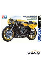 Tamiya: Model bike kit 1/12 scale - Yamaha YZR500 #1 - Kenny Roberts (US) - plastic parts, rubber parts, water slide decals and assembly instructions
