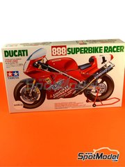 Tamiya: Model bike kit 1/12 scale - Ducati 888 Team Police #1 - Doug Polen (US) - Superbike World Championship 1992 - plastic model kit