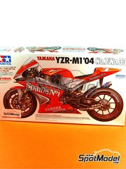 Tamiya: Model bike kit 1/12 scale - Yamaha YZR-M1 Spains #7, 33 - Carlos Checa (ES), Marco Melandri (IT) - Motorcycle World Championship 2004 - plastic parts, water slide decals and assembly instructions