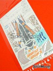 Tamiya: Pieza de reemplazo escala 1/12 - Ducati Desmosedici GP3: Calca Nº 12, 65 - calcas de agua - para las referencias de Tamiya TAM14101 y 14101