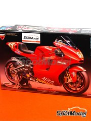 Tamiya: Model bike kit 1/12 scale - Ducati Desmosedici GP3 #12, 65 - Troy Bayliss (AU), Loris Capirossi (IT) - Motorcycle World Championship 2003 - plastic model kit