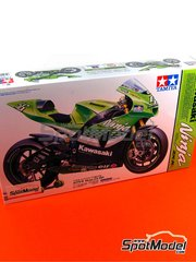 Tamiya: Maqueta de moto escala 1/12 - Kawasaki Ninja ZX-RR Nº 17, 56 - Randy de Puniet (FR), Shinji Nakano (JP) - Campeonato del Mundo de Motociclismo 2006 - maqueta de plástico