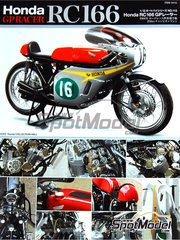 Tamiya: Model bike kit 1/12 scale - Honda RC166 GP Racer 250cc #7, 8, 16 - World Championship 1966 - plastic model kit