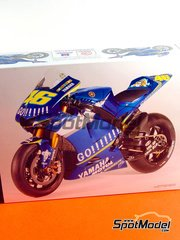 Tamiya: Model bike kit 1/12 scale - Yamaha YZR-M1 Go!!!!!! #5, 46 - Valentino Rossi (IT), Colin Edwards (US) - Motorcycle World Championship 2005 - plastic model kit