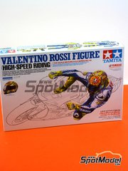 Tamiya: Figure 1/12 scale - Valentino Rossi - Motorcycle World Championship 2009 - metal parts, plastic parts, water slide decals and assembly instructions - for Tamiya references TAM14117, 14117, TAM14120 and 14120