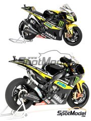 Tamiya: Model bike kit 1/12 scale - Yamaha YZR-M1 Monster Yamaha Tech3 #52 - Colin Edwards (US), James Toseland (GB) - World Championship 2009 - plastic model kit