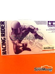 Tamiya: Figure 1/12 scale - Racing Rider into corner - plastic model kit