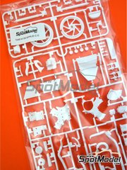 Tamiya: Spare part 1/12 scale - Honda RC213V: C and D parts - plastic parts - for Tamiya references TAM14130 and 14130