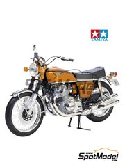 Tamiya: Model bike kit 1/6 scale - Honda CB750 Four - plastic parts, rubber parts, water slide decals, assembly instructions and painting instructions