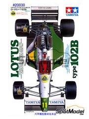 Tamiya: Maqueta de coche escala 1/20 - Lotus Judd 102B - Campeonato del Mundo